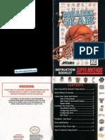 College Slam - Manual - SNES