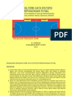 Penjelasan Tentang Contoh Pengisian Form Data Statistik Pertandingan Futsal