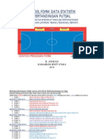 Contoh Pengisian Kolom Form Data Statistik Pertandingan Futsal