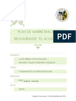 Plan de Marketing de un restaurante