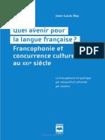 Quel Avenir Pour La Langue Francaise