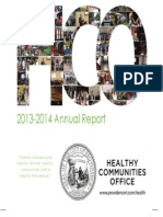 Providence Healthy  Communities Office 2013-2014 Report