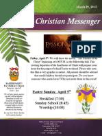 March 29 Newsletter