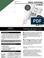 Manual LR 3500 Video Porteiro
