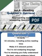 AQA Lang. - Reading Question 1