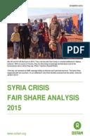 Syria Crisis Fair Share Analysis 2015