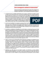 CONCLUSIONES FORO de TB 2014
