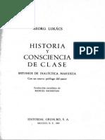 Lukács_Historia y Consciencia de Clase_Trad. Manuel Sacristán