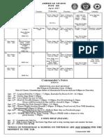 Legion Calendar April 2015