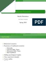 Lectures Behavioral Economics