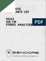 Sencore Parts List