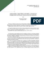 ADICIONES Y RECTIFICACIONES A NOTICIAS SOBRE ESCULTURAS ITALIANAS EN ESPAÑA