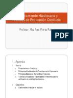 Financiamiento Hipotecario y Técnicas de Evaluación Crediticia