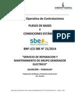 PBC 2014 Mant Grupo Generador Electrico