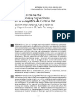Conjunciones y Disyunciones en La Ensayística de Octavio PAz