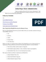Implementation Steps - Basic Administration