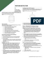 2GIG PIR1 345 Install Guide