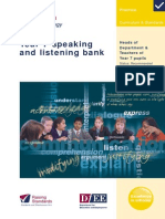 Yr7 Speaking and Listening Level Bank