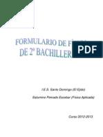 Formulario de Física 2º Bachillerato