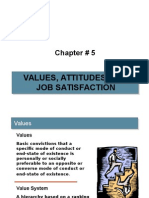 Values Attitudes and Job Satisfaction