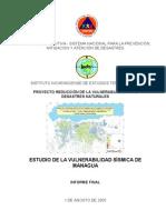 Estudio de La Vulnerabilidad Sismica de Managua