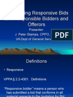 Determining Responsive and Responsible Bids and Proposals