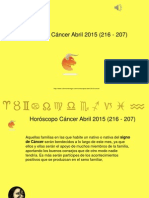Horoscopo Cancer Abril 2015