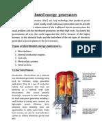 Distributed energy  generators