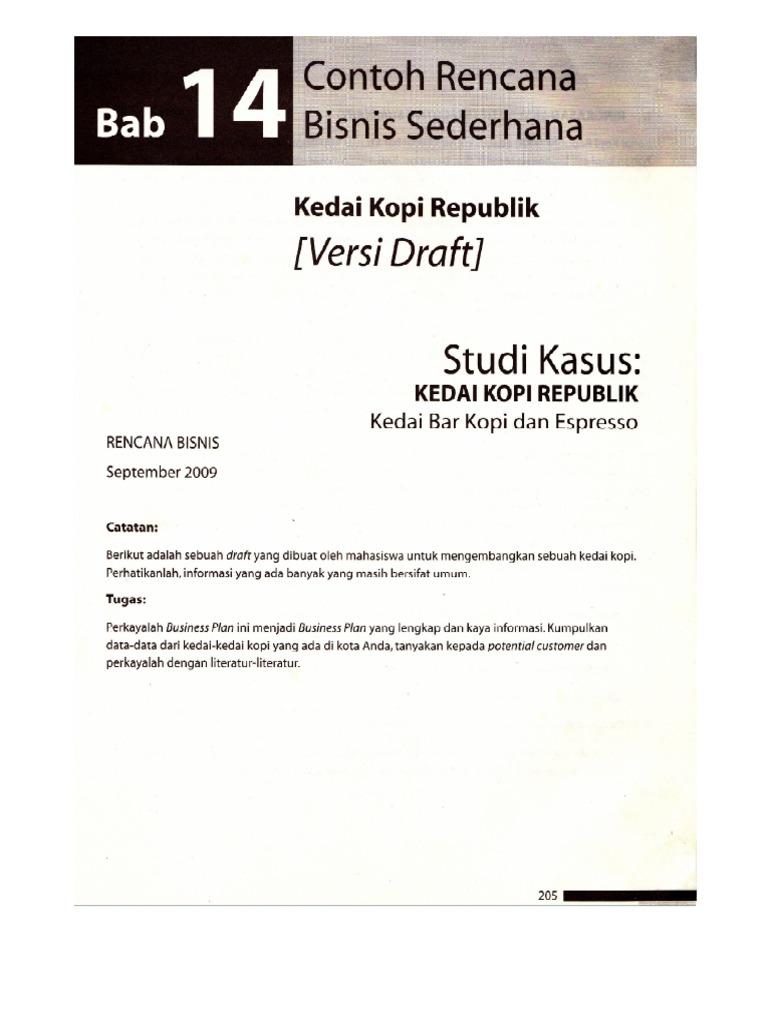 Contoh Proposal Bisnis Modul Kewirausahaan