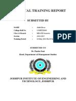 PRACTICAL TRAINING REPORT.doc