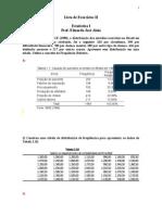 Lista II Tabelass Estatistica