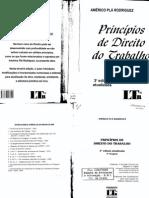 Princípios de Direito Do Trabalho - Américo Plá Rodrigues, 3a Edição