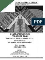 March 28, 2015 Shabbat Card