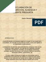 Diapositivas Exp. Civil. Ausente y Desaparecido