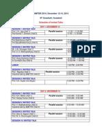 Aimtdr2014 Schedule Nov5