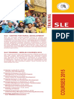 Flyer SLE TRAINING 2015 - Qualifying for International Development Cooperation