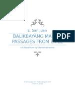A Critique Paper on E. San Juan