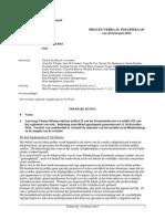 Verslag vergadering Politieraad van 24 februari 2015  in verband de toekomst van het nachtleven in Blankenberge en de aanpak van de overlast