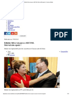 Edinho Silva Vai Para a SECOM