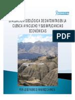 EVALUACIÓN GEOLÓGICA DE DIATOMITAS EN LA CUENCA AYACUCHO Y SUS IMPLICANCIAS ECONÓMICAS