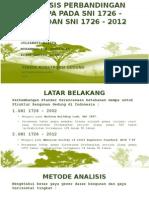 Analisis Perbandingan Gempa Pada Sni 03-1726 2002 Dan