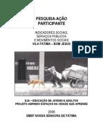 Caderno Pesquisa Ação Fátima 2006
