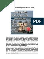 Reflexión Teológica 27 Marzo 2015