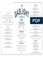 The Gaslight Spring Menu