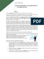 UNIDAD I La Función de Las Finanzas y Sus Aplicaciones a Las Organizaciones