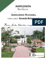 PAMPLONITA. Bambuco. Gerardo Rangel. Transc. piano G. Betancourt.