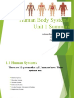human body systems unit 1 summary