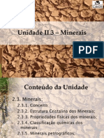 Unidade 2.3 Minerais