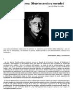 Posanarquismo - Obsolescencia y Novedad