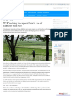 WFP seeking to expand Asia's use of nutrient-rich rice